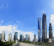 The street scene of the century avenue in shanghai Pudong. The street scene of the century avenue in shanghai,China Stock Photo
