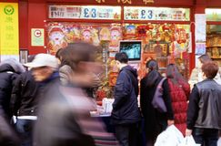 A street scene in Chinatown, London Royalty Free Stock Image