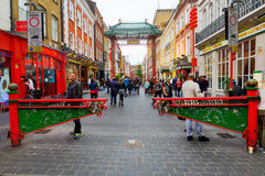 Street scene of Chinatown, London, UK Stock Photos