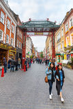 Street scene of Chinatown in London, UK Stock Image