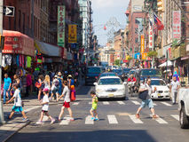 Street scene at Chinatown in New York City. Colorful street scene at Chinatown in New York City royalty free stock photography