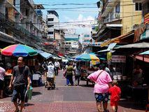 Street scene in Chinatown part of Bangkok Royalty Free Stock Photography