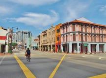 Street scene in Chinatown, Singapore. Stock Photo