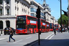 Street Scene In The City Of London. UK Royalty Free Stock Image