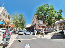Street scene of the city of Nazareth Stock Photo