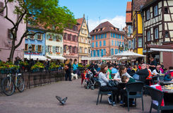 Street scene in Colmar, France Royalty Free Stock Photography