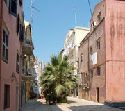 Street scene, Corfu Town Royalty Free Stock Photography