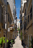 Street scene, Corfu Town Stock Images