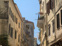 Street scene, Corfu Town Stock Photos