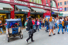 Street scene at Covent Garden, London, UK Royalty Free Stock Photos
