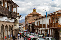 Street Scene in Cusco Royalty Free Stock Photography