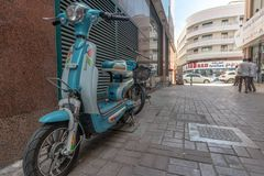 Street scene in Deira district, Dubai royalty free stock image