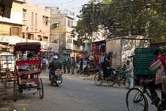 Street Scene in Delhi, India. India street scene in Delhi royalty free stock image