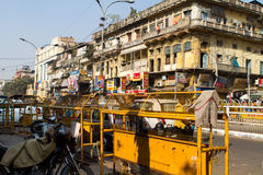 Street Scene in Delhi, India. With traffic stock photo