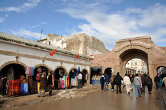 Street scene in Essaouria, Morocco Royalty Free Stock Photo