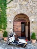 Street scene from Etruscan city Cortona in Tuscany Royalty Free Stock Image