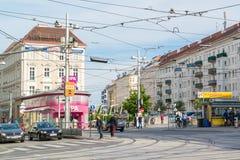 Street scene of Fasanplatz in Vienna, Austria Royalty Free Stock Photography