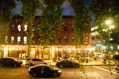 Free Street Scene From The Meatpacking District In Manhattan Seen At Night Stock Photo - 157527930