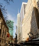 Street scene Grace Building, NYC public library, New York City Royalty Free Stock Photography