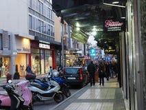 Street Scene In Heraklion Crete Greece Stock Photos