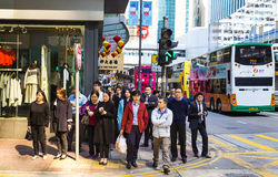 Street scene in Hong Kong Stock Photos