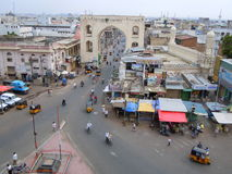 Street scene in Hyderabad city Royalty Free Stock Photography