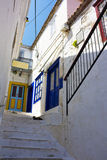 Street Scene at Hydra Island, Greece Stock Photo