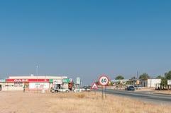 Street scene in Kamanjab in the Kunene Region of Namibia Royalty Free Stock Image