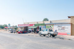 Street scene in Kamanjab in the Kunene Region of Namibia Royalty Free Stock Photos