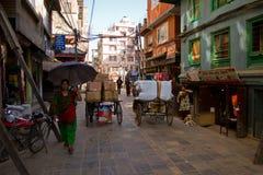 Street scene of Kathmandu, Nepal Stock Images