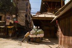 Street scene of Kathmandu, Nepal Stock Image