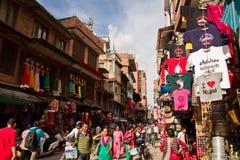 Street scene of Kathmandu, Nepal Royalty Free Stock Photo