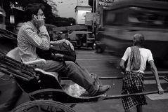 Street scene of Kolkata Stock Photos