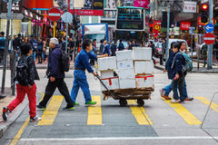 Street scene in Kowloon, Hong Kong Royalty Free Stock Image
