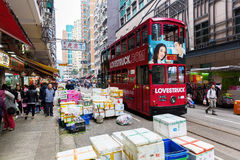 Street scene in Kowloon, Hong Kong Stock Images