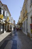 Lagos city streets, Portugal stock images