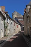 Street scene in le Grand Pressigny Stock Photo