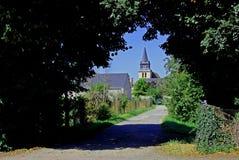 Street scene in le Grand Pressigny Stock Photos