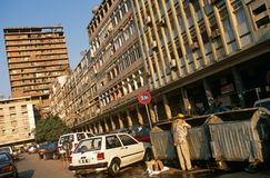 A street scene in Luanda, Angola. Royalty Free Stock Photography