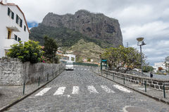 Street scene in Machico on Madeira Royalty Free Stock Images