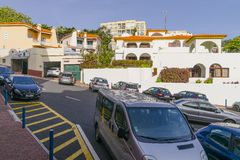 Street scene at Madeira, Portugal Royalty Free Stock Photography