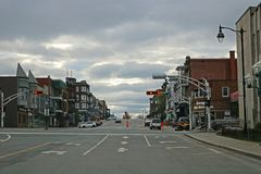 View Of Downtown Shawinigan, Quebec stock photography