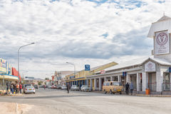 Street scene with medical centre and businesses in Okahandja Stock Image
