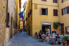 Street scene in the medieval old town of Florence, Italy Royalty Free Stock Image