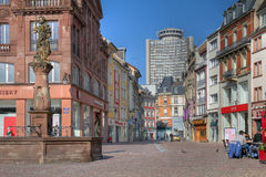 Street scene in Mulhouse, France royalty free stock photo