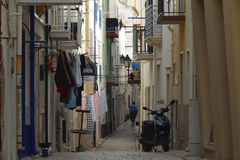 Street Scene Nazare Portugal Royalty Free Stock Photo