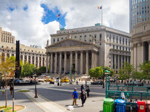 Street scene near the New York State Supreme Courthouse Royalty Free Stock Photos