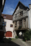 Street Scene Noyers,Burgundy,france. Royalty Free Stock Photo