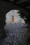Street Scene Noyers,Burgundy,france. Royalty Free Stock Photography