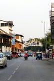 Street scene, Old City, Chiang Mai, Thailand Royalty Free Stock Photos